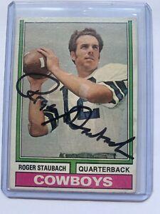 1974 Topps Roger Staubach Autograph Card Dallas Cowboys