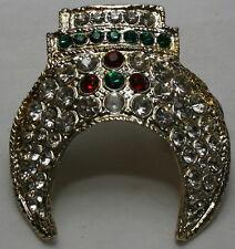 A Set of 3 Vintage Shrine Clip-on Ties plus Jeweled Crescent Fez Tassel Holder