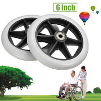 UK 2Pcs Rollator Walker Replacement Part 6'' Front + Rear Wheel for Drive