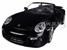 PORSCHE 911 (997) TURBO CONVERTIBLE BLACK 1/18 MODEL CAR BY MOTORMAX 73183