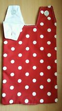 Catheter night bag cover . Red. Polka dots.
