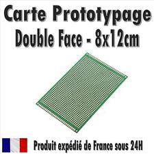 Carte Prototypage - 8x12cm - Double face - Pas 2,54mm (PCB board)