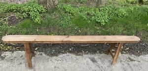 Early Period Antique  Farmhouse Pine Bench