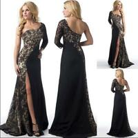 Womens Vintage Formal Evening Bridesmaid Gown Party Prom Long Dress Lace Dresses