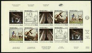 VENEZUELA #1415 Proof SPECIMEN Sheetlet Latin America Stamps Postage 1988 MNH NG