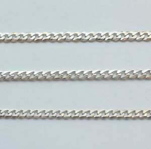 """White Gold 9ct Bracelet Chain 7"""" Mens Unisex - 3 Widths to Choose From"""