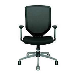 HON Boda High-Back Work Chair Mesh Computer Chair for Office Desk, Black (HMH01)