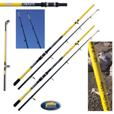 2 x 12FT Beach Caster Sea Fishing Rods 4-12oz Black and Yellow Lineaffe Vigor