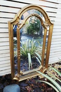 Stunning vintage style Wall Mirror Gold Decorated Gesso French Style Frame
