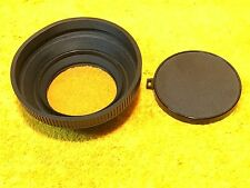 ***PERFECT*** TEMPO PLUS 67mm RUBBER LENS HOOD with 1A FILTER and PLASTIC COVER