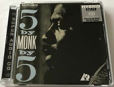 Thelonious Monk Quintet 5 by Monk by 5 2002 Super Audio CD  Like New   Mega Rare