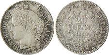 II°  RÉPUBLIQUE  ,  20  CENTIMES  CERES  1850  A  PARIS  ,  SUPERBE