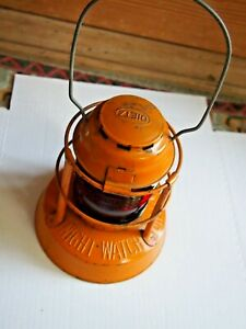 Dietz Night Watch Lantern with Original Red Fresnel Globe .Syracuse NY