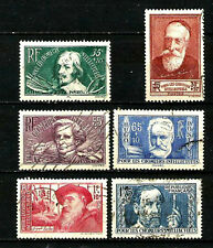 FRANCE Série N° 380/385 CHÔMEURS INTELLECTUELS 1938 Oblitérés. Cote 40 €