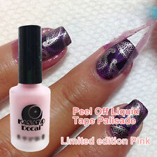 Pink Peel Off Liquid Nail Art Tape Latex Palisade For Nail Polish Easy Clean