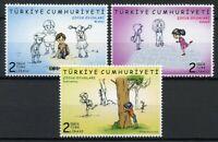 Turkey Childrens Stamps 2019 MNH Children's Games Cultures Traditions 3v Set