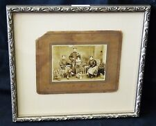 """1900 Chinese Framed B&W Photo """"Three Brothers in Robes"""" by unmarked (Mil) #7805"""