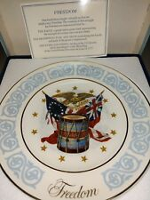 Vintage Avon Commemorative Plate Freedom Made By Enoch Wedgwood England