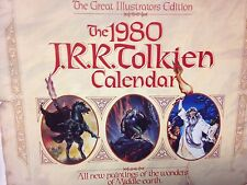 J. R. R. Tolkien Calendar 1980 Illustrators Edition Lord Of The Rings