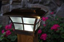 4X4 COPPER ELECTROPLATED PRESTIGE SOLAR POST CAP LED DECK FENCE LIGHTS 4 PACK
