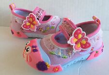Infant Baby Girl Pink Sneakers Shoes Size 2 Princes Slip-On Style with Strap