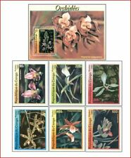 CON9902 Orchids 6 stamps and block MNH CONGO 1999