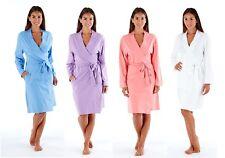 Ladies Soft Jersey Kimono Wrap Cotton Dressing Gown Summer Bath Robe House Coat
