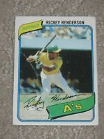 Authentic 1980 Topps Rickey Henderson #482 Rookie Creased