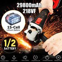 Electric Cordless Angle Grinder 21V +1/2 Rechargable Li-ion Battery   Gift
