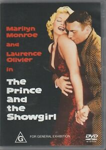 1 X DVD  MOVIE ZONE 4 PAL AUST MARILYN MONROE IN THE PRINCE AND THE SHOWGIRL