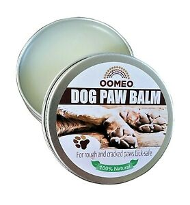 Dog Paw Balm Cream Butter natural lick safe dry skin cracked paws 30ml OOMEO