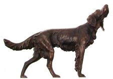 Red Setter Figurine Bronze Figurines Dog Ornaments Head Looking Up