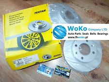 2x Brake Discs (Pair) Set TEXTAR 92111703 Rear Peugeot 1007,307 Citroen C2,C3,C4