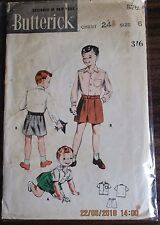 Butterick sewing patterns no.5761 Boys shorts & shirt size 6 Vintage