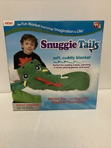 SNUGGIE TAILS DRAGON SOFT CUDDLY BLANKET New 1 Size Fits Most Kids Green