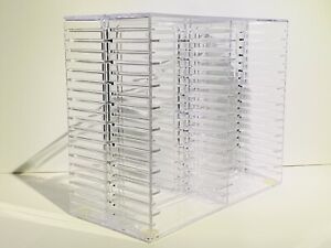 Cassette Tape Storage Rack Holder 40 Pcs Total (US Acrylic 1993) Famicom Genesis