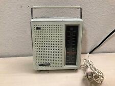 Panasonic RF-561 AM-FM AC-DC Transistor Radio Vintage White Works Rare Color A5