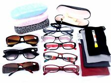 WOMEN READING GLASSES LOT 6  CLEARANCE 5 Soft Cases 1 Hard Case+2.50 LRS64758