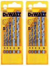 2 X DeWalt DIY Plus Masonry Drill Bit Set X 5 In Case