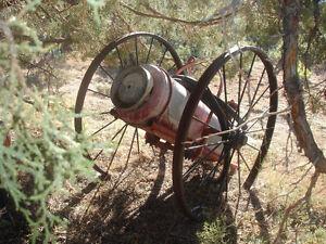 Antique Farm Equipment American LaFrance Two Man Fire Extinguisher Yard Art