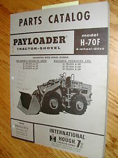 International Hough H 70f Parts Manual Book Catalog Wheel Payloader Shovel Guide