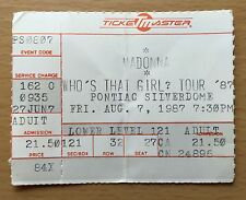 1987 MADONNA PONTIAC CONCERT TICKET STUB WHO'S THAT GIRL TOUR LIKE A VIRGIN