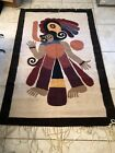 Hand made wool rug 40x62 fringe Peruvian/Middle Eastern Design Made In Mexico