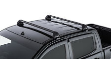 Rhino Pair RS Vortex Roof Racks FORD Ranger 4dr Ute PX Dual Cab 2011 On black