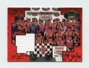 Jeff Gordon Terry Labonte 2001 Super Shots 100th Win Artist Proof Victory Banner