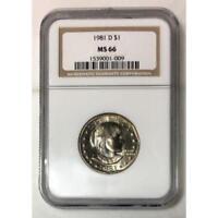 1981 D Susan B Anthony Dollar NGC MS66 ***Rev Tye's Coin Stache*** #100915