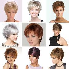 Fashion Women Short Curly Wigs Black Blonde Wavy Hair Natural Pexie Wig Cosplay