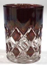 EAPG - Findlay No. 9 Block and Double Bar - Tumbler - Ruby Stain