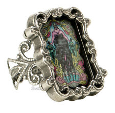 Disney The Little Mermaid URSULA CAMEO Stained Glass Filigree  Ring ADJUSTABLE