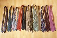 12 x Krawatte, Krawatten, Hugo Boss, Seidenfalter, Pasca, Comberti, Alpi ...
